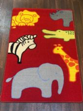 NEW ZOO ANIMAL LEARNING SCHOOL HOME MAT RUG 80X120CM MULTICOLOUR NON SLIP